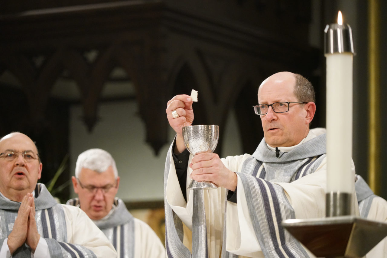 Bishop Walkowiak during the liturgy of the Eucharist at Mass