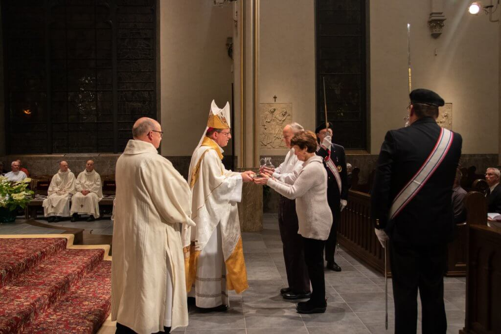 Presentation of gifts during the 2019 Mass for Life at the cathedral by Emma Rolf
