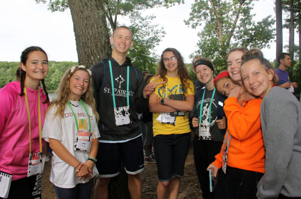 Young people hanging out at DYMO Camp 2018