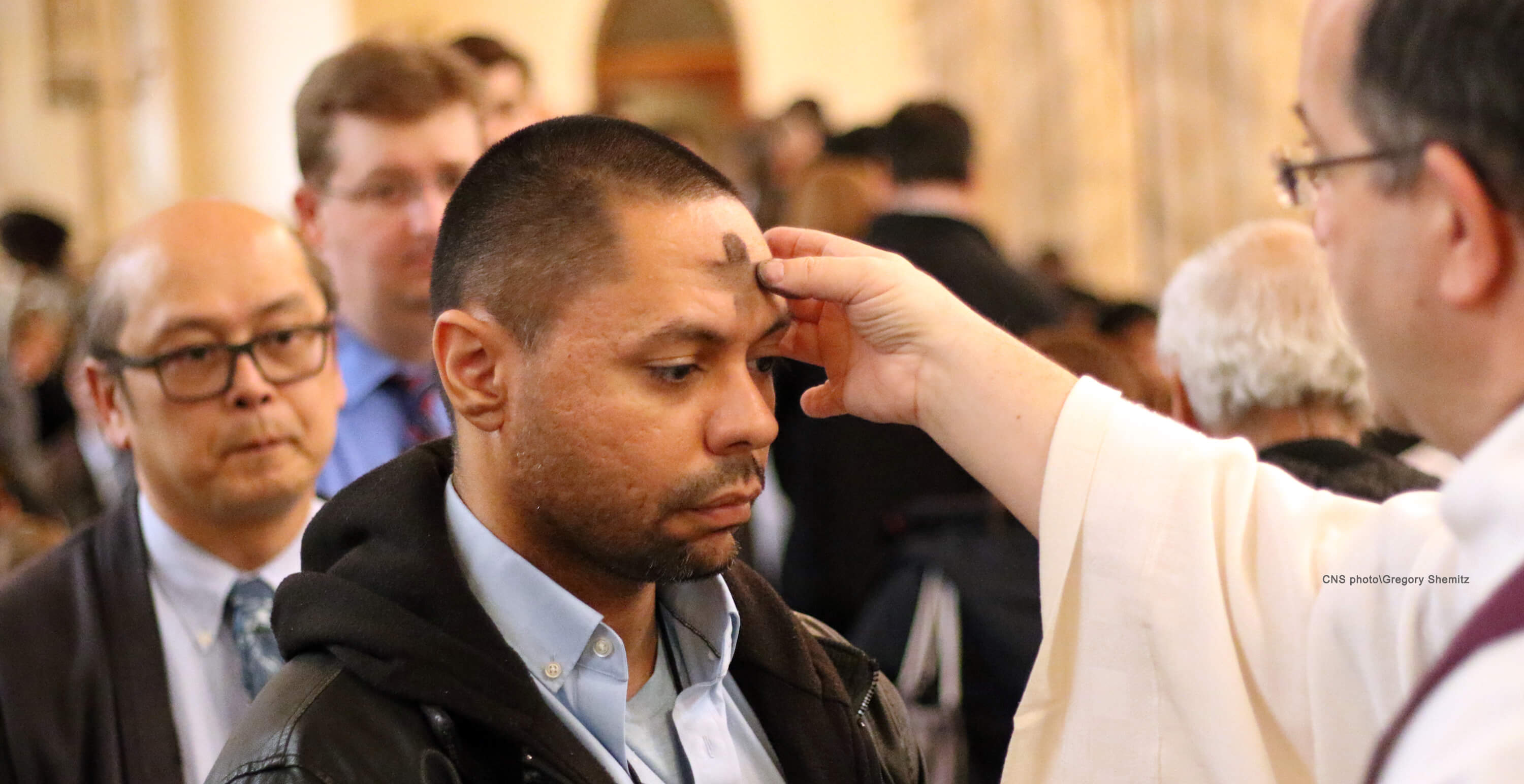 CNS photo, Ash Wednesday, Newark by Gregory Shemitz