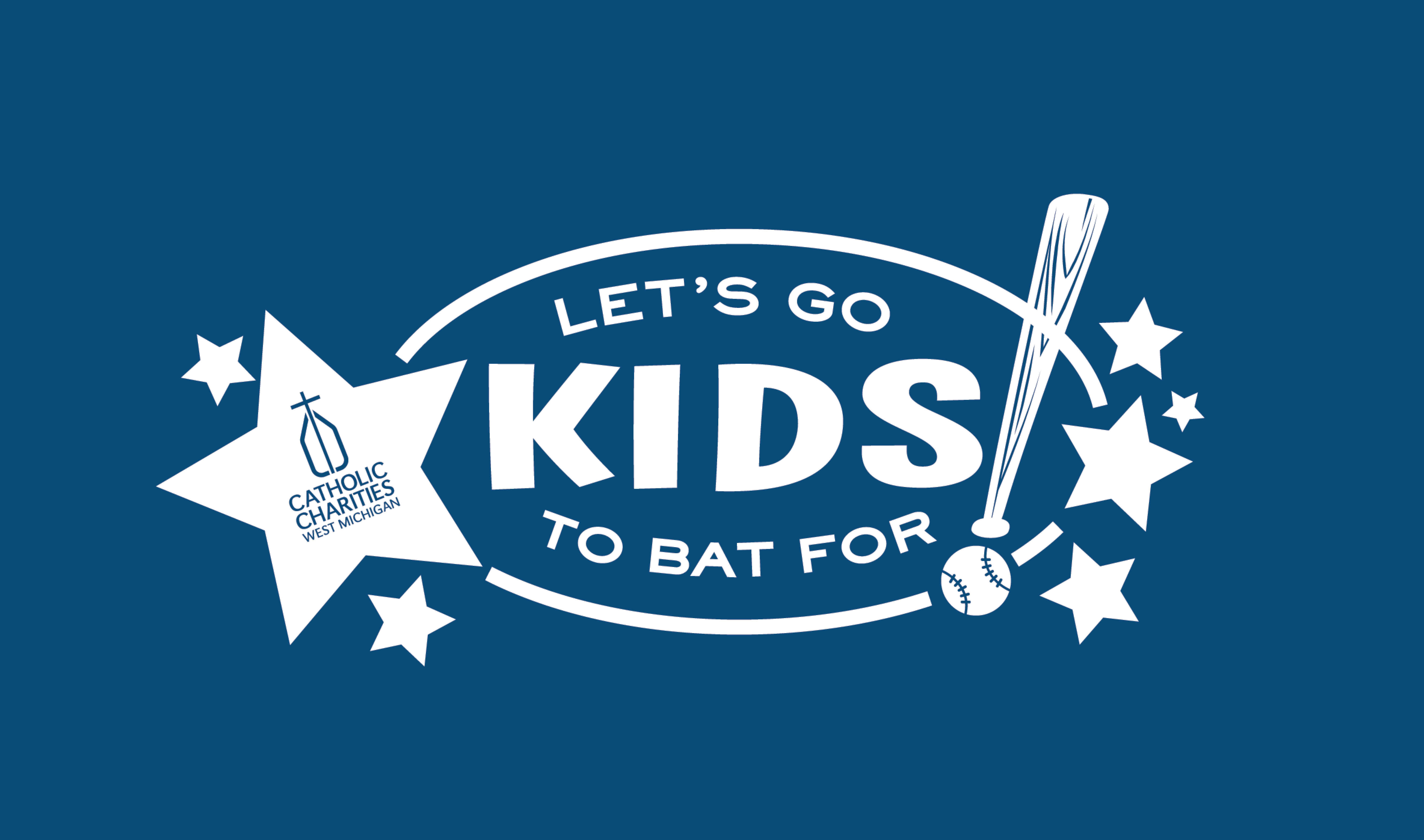 CCWM's Let's Go To Bat For Kids! logo