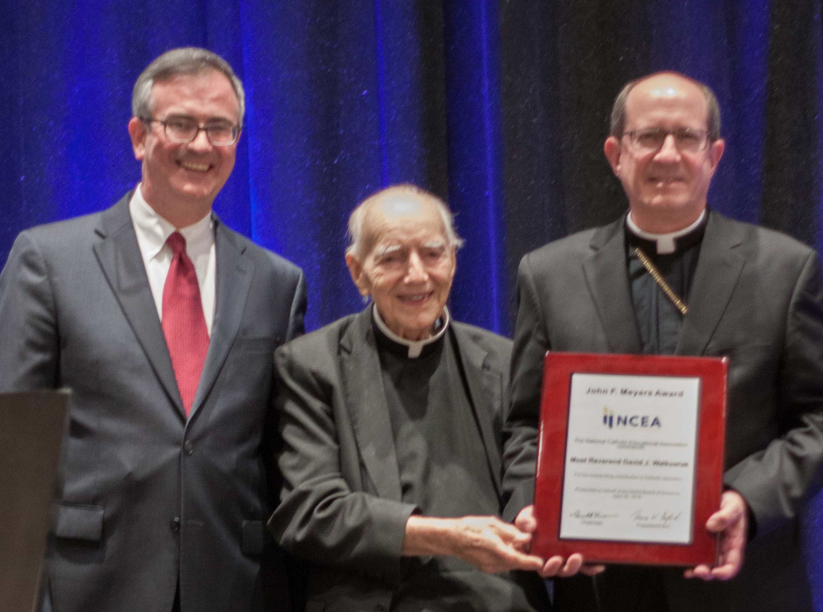 Bishop Walkowiak receives NCEA Award, April 2019
