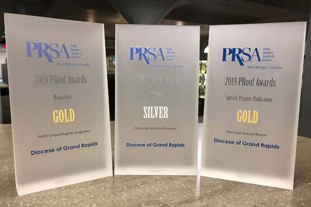 Diocese wins three awards for PR excellence at WMPRSA's 34th Annual Awards event