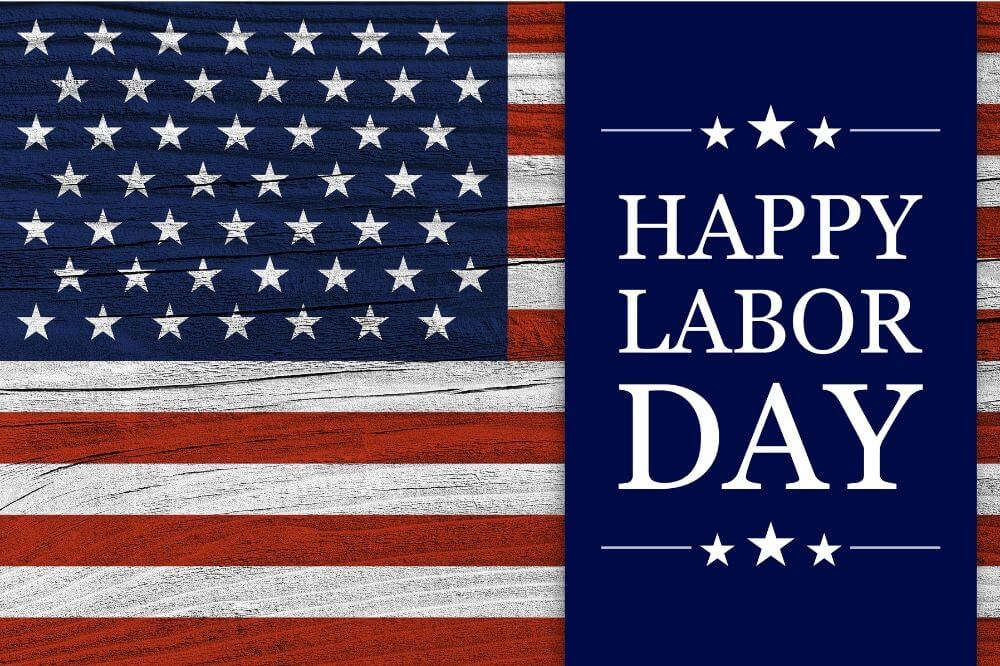 Happy Labor Day image with flag