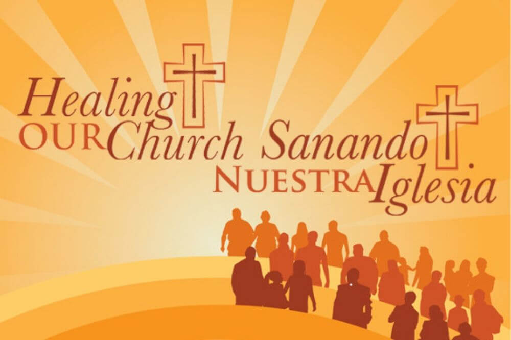 Healing Our Church featured image in English and Spanish