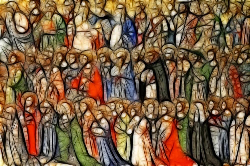 Artist's rendering of the communion of saints