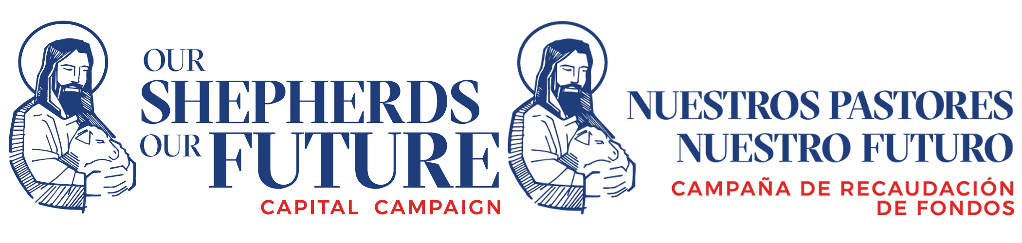 Our Shepherds-Our Future Campaign logos, English and Spanish