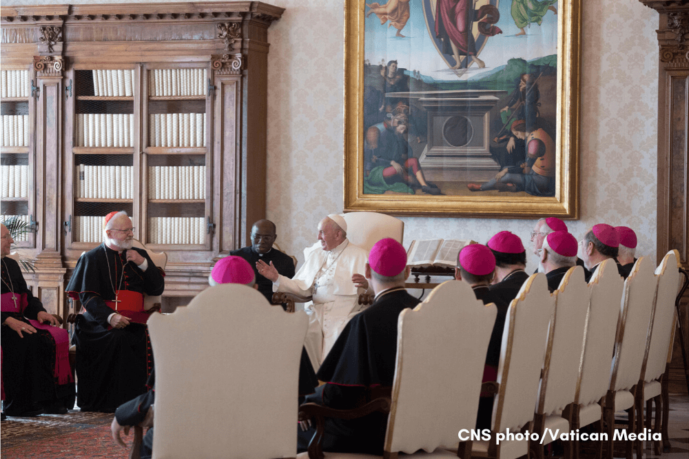 CNS photo of NE Region U.S. bishops during ad limina visit to Rome in 2019