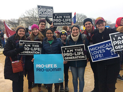 Hope College students at March for Life 2019