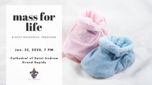 Mass for Life Facebook graphic, baby booties