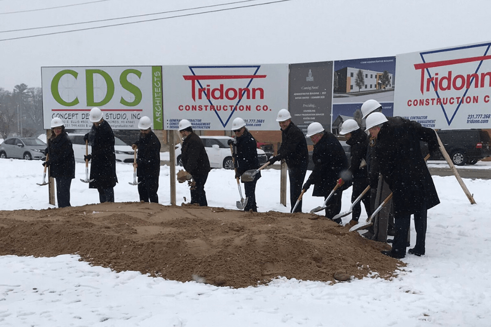 CCWM groundbreaking, Muskegon services and detox center, January 2020