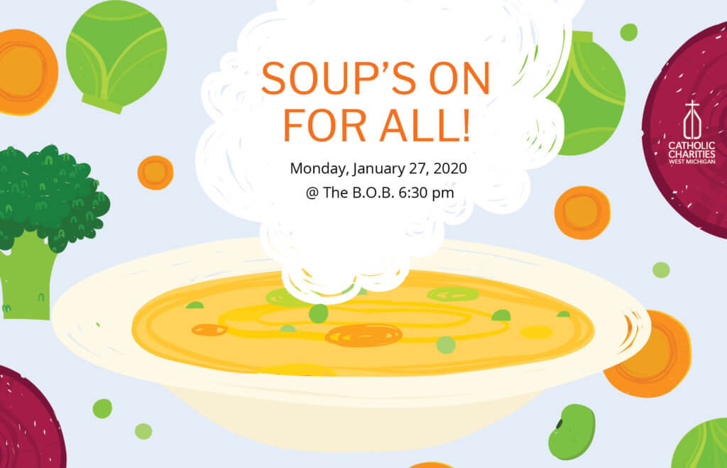 Soup's On For All! 2020 logo