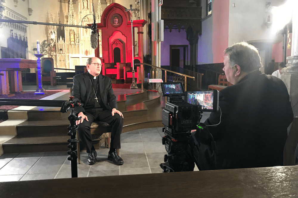 Bishop Walkowiak is interviewed for The Chair series