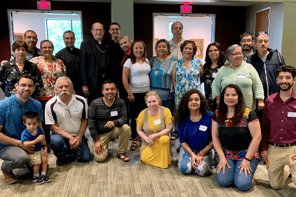 Bishop Walkowiak with members of our Hispanic parishes