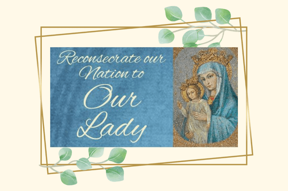 Reconsecration of our country to Our Lady, May 1, 2020, USCCB