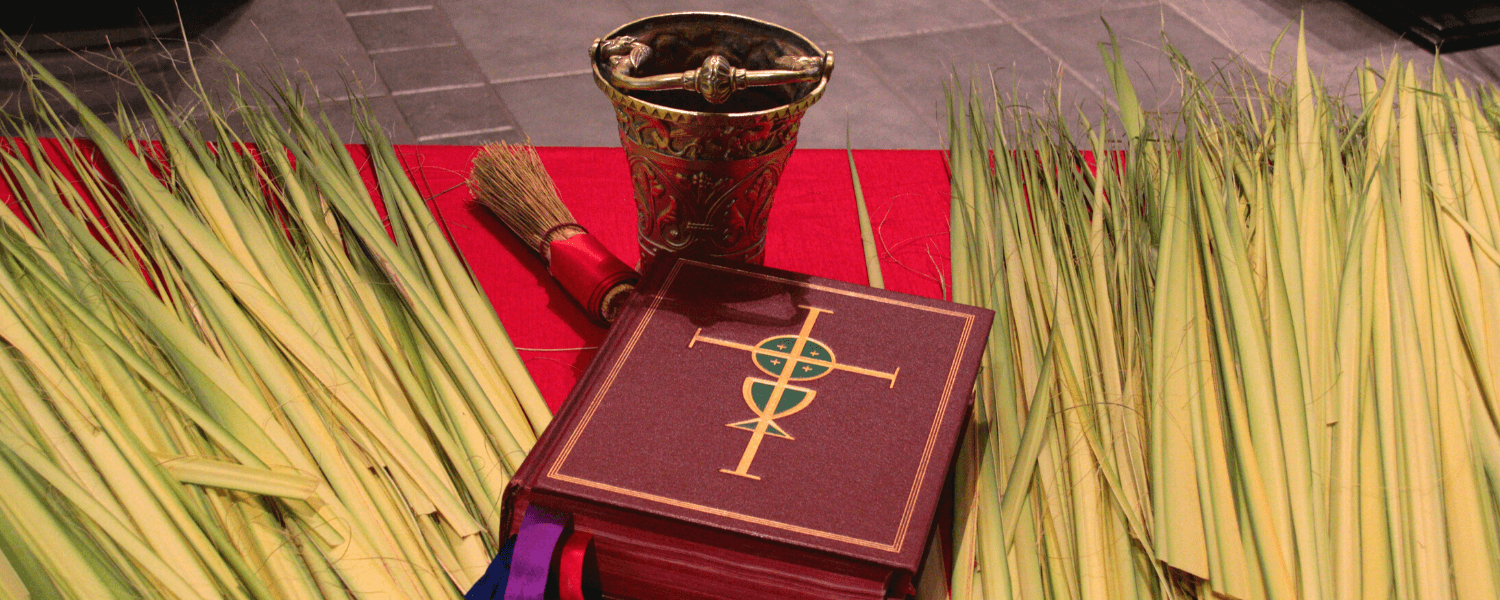 Web banner for Palm Sunday