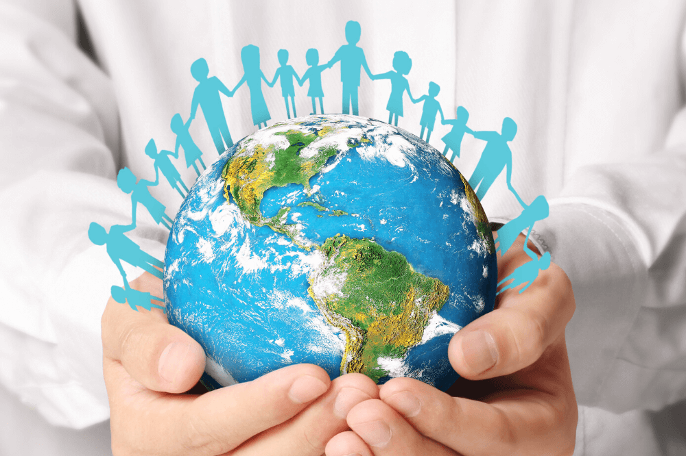 Hands holding the earth, Day of Prayer for Humanity, human connection