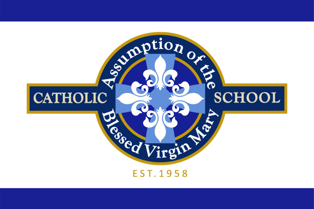 Assumption of the Blessed Virgin Mary School logo