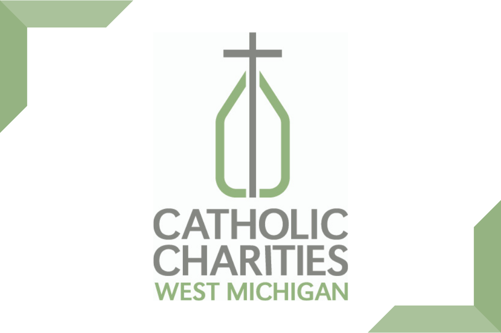 Catholic Charities West Michigan logo, color, with borders