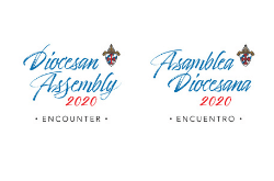 Diocesan Assembly logo in English and Spanish