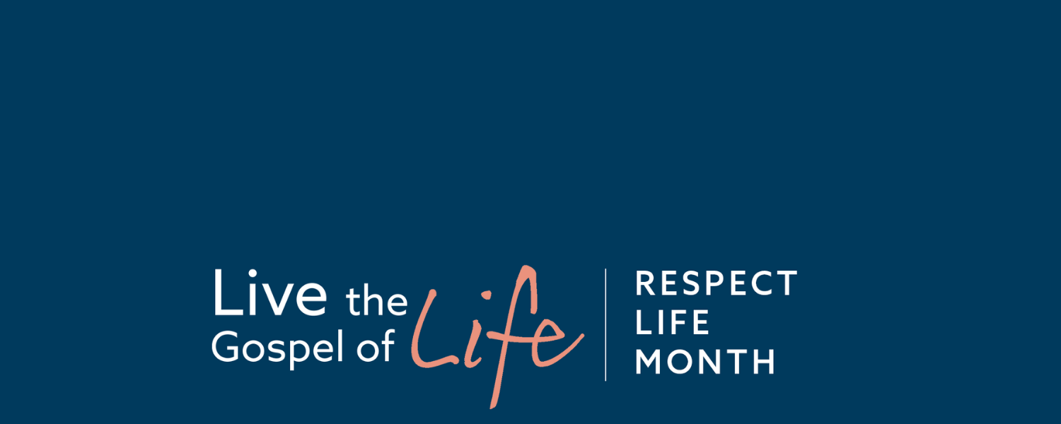 Respect Life Month 2020, Live the Gospel of Life web banner